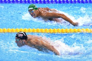 Michael Phelps ganhando