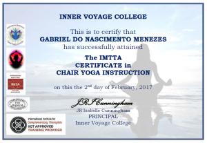 Chair Yoga Certification - Gabriel Menezes